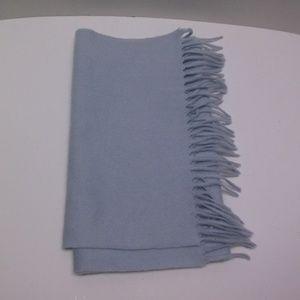 100% Cashmere Scarf Light Blue 60x13